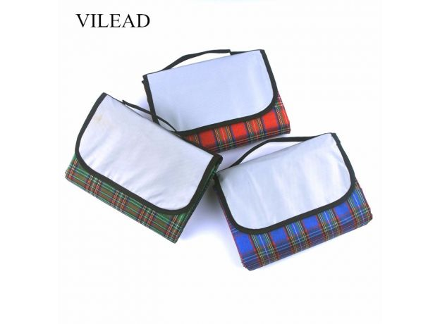 VILEAD 2 Size Folding Camping Mat Outdoor Beach Picnic Lightweig Waterproof Sleeping Camping Pad Mat Moistureproof Plaid Blanket