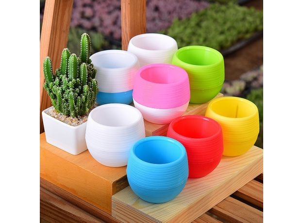 lovely Colorful flower pots planters for succulents indoor herb mini potted plants for office decoration garden home accessories