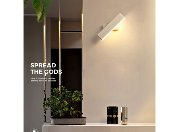 Led indoor wall lamps rotation adjustable switch modern wall sconce with switch stair wall light