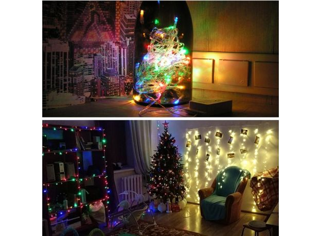 Christmas Lights 5M 10M 20M 30M 50M 100M Led String Fairy Light 8 Modes Christmas Lights For Wedding Party Holiday Lights