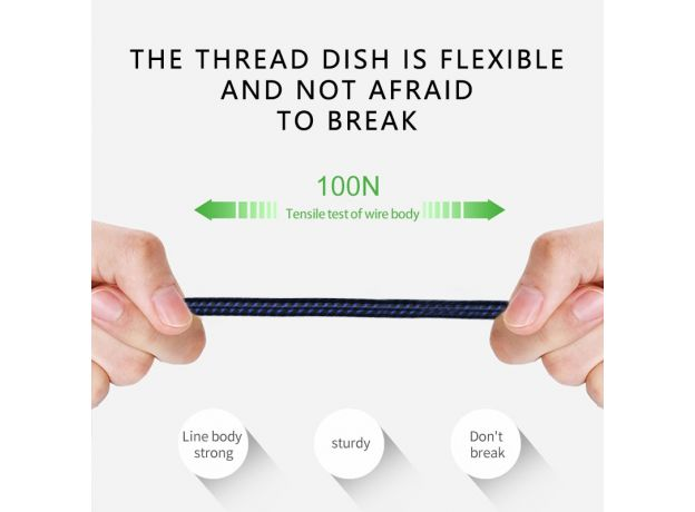 Jellico USB Type C Cable USB-C LED Mobile Phone Fast Charging USB Charger Cable for Samsung Galaxy S10 Huawei Xiaomi USB Type-C