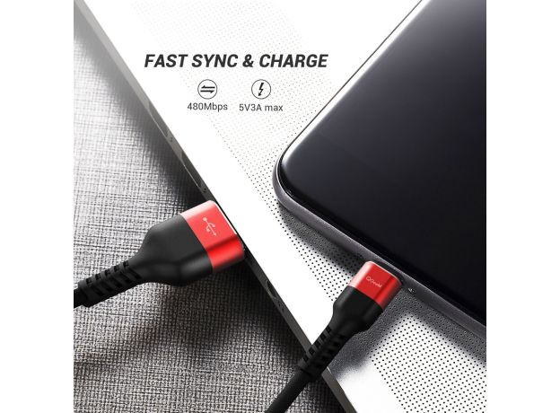 QGEEM USB Type C Cable USB-C Mobile Phone Fast Charging USB Charger Cable for Samsung Galaxy S8 Huawei Mate 20 Xiaomi USB Type-C