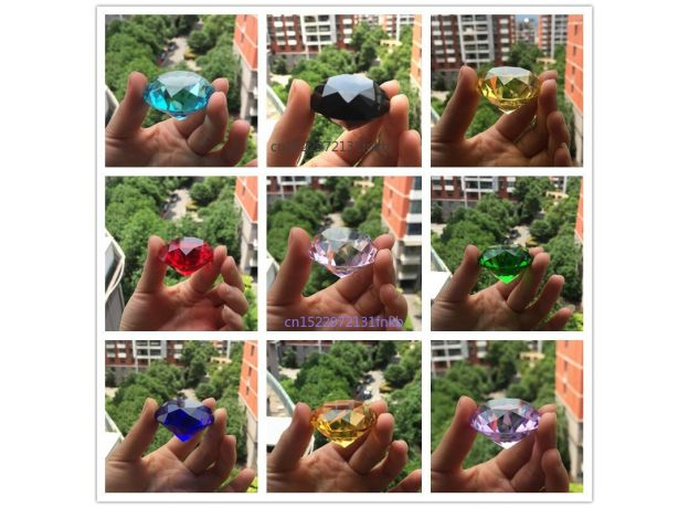 10MM 10pcs Dimeter Crystal Diamond Rainbow Glass Beads Feng Shui Sphere Crystals Decorative Craft Gift Wedding Home Vase Decor