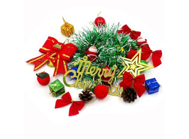 30/45/60cm PVC Christmas Tree + 23 pcs Christmas Tree Decorations Accessories + Christmas Light String For Home Navidad Dector