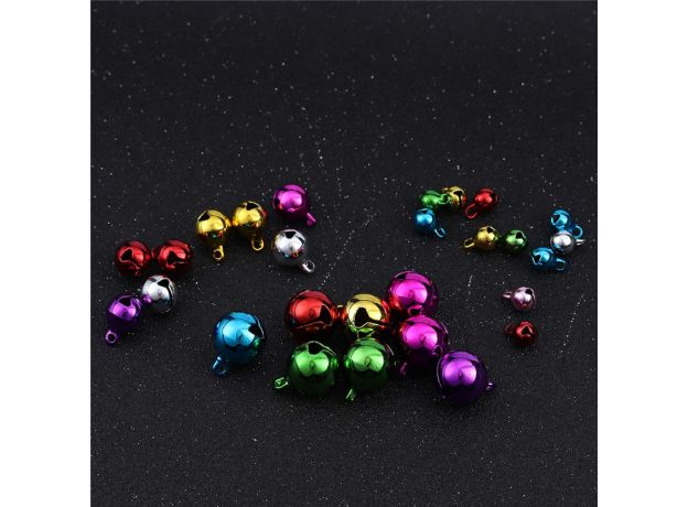 50pcs Christmas Jingle Bells Metal Little Bells Decoration Colorful/Mix Color Party DIY Beads Christmas jewelry accessories