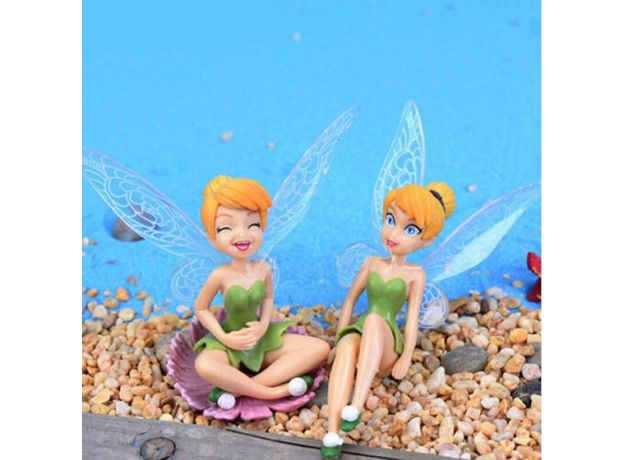 6Pcs Flower Fairy Pixie Fly Wing Family Miniature 1 Pc Artificial Swallow Birds Garden Ornament Home Decor Decoration Craft