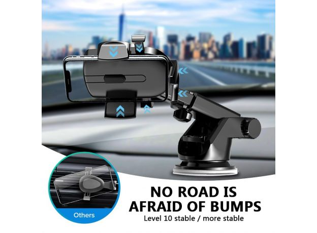 LISM Sucker Car Phone Holder Mobile Phone Holder Stand in Car No Magnetic GPS Mount Support For iPhone 11 Pro Xiaomi Samsung