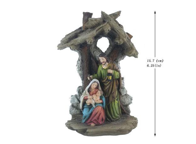 Zayton Figurine Holy Family Nativity Scene Home Decoration Christ Jesus Statues Mary Joseph Miniature sculpture Christmas gift