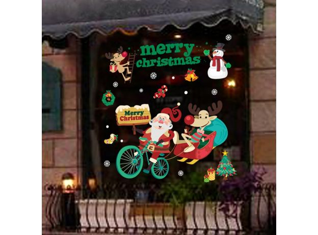 2020 Merry Christmas Window stickers Christmas decorations for home wall Glass Stickers New Year Home Decals Decor natal Noel