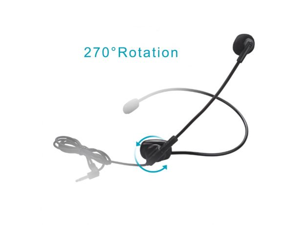 Cable Head-mounted Headset Microphone Wired Boom Amplifier Condenser Microphones