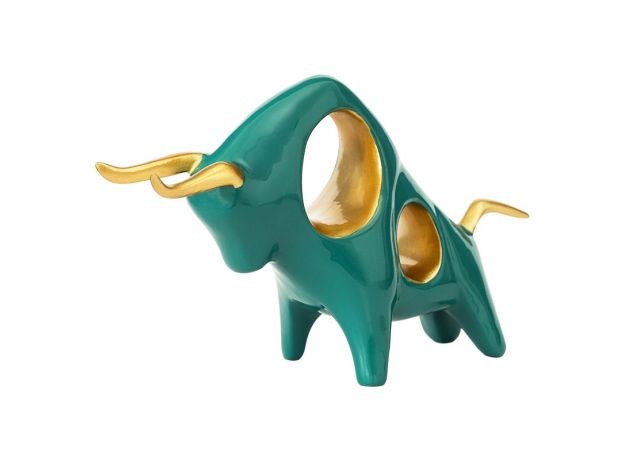 Taurus Statue Bull Sculpture Reisn bull symbol of the year 2021 Animal Ox Home Decor year of ox figurine for decoration