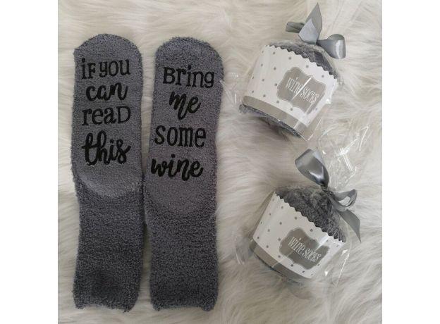 Christmas Socks Wine Gifts for Women Christmas Present Funny Gifts for Mom Grandma Friend Birthday Gift Idea Stocking