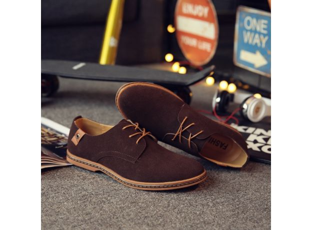 2020 Spring Suede Leather Men Shoes Oxford Casual Shoes Classic Sneakers Comfortable Footwear Dress Shoes Large Size Flats
