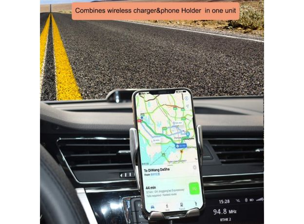 Automatic Clamping 10W Wireless Charger Car Phone Holder for I Phone 10 Max 11 X Samsung Charging Stand Mobile Phone Accessories