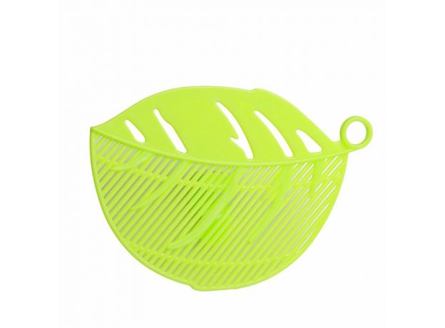 Leaf Shape Durable Clean Rice Wash Sieve Beans Peas Cleaning Gadget Kitchen Clips Fruit & Vegetable Colanders Strainers Tool 1PC
