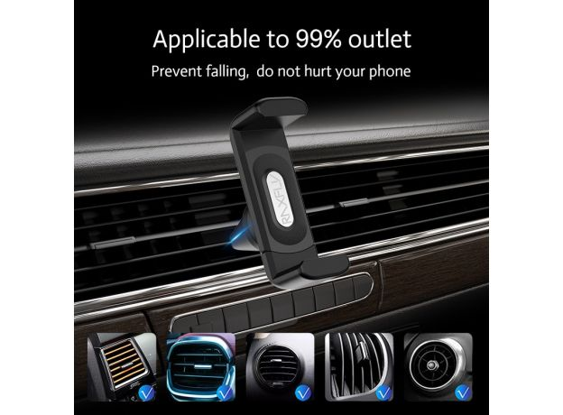 RAXFLY Car Phone Holder For iPhone Smartphone Air Vent Mount Clip 360 Rotation Universal Support Telephone Voiture Soporte Movil