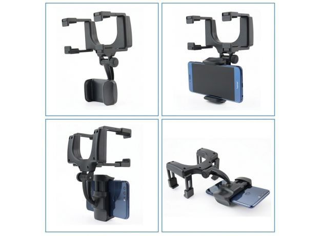 Universal Car Phone Holder 360 Degrees For Apple iPhone Samsung GPS Smartphone Stand Car Rearview Mirror Mount Phone Holder