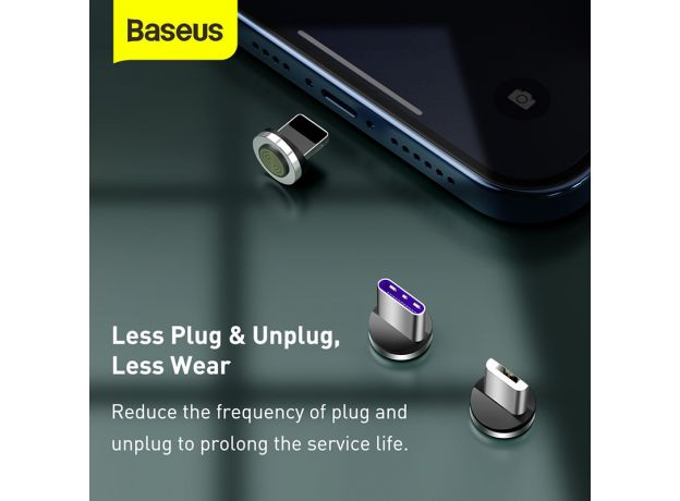 Baseus Magnetic Charger Micro USB Cable for iPhone Xiaomi Mobile Phone 5A Fast Charging Wire Cord 3 in 1 Magnet USB Type C Cable