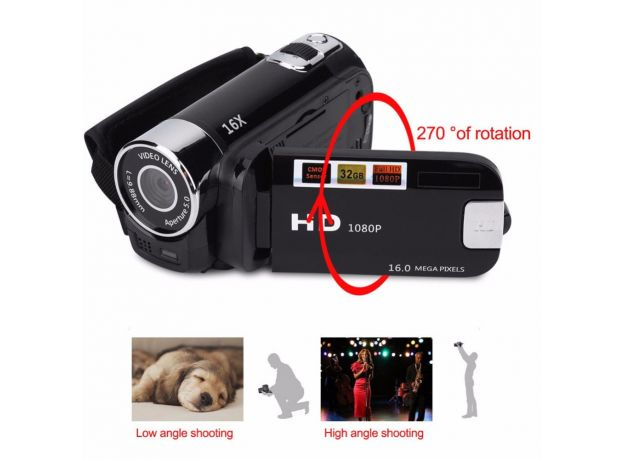 1080P Timed Selfie High Definition Shooting DVR Digital Camera Night Vision Video Record Professional Anti-shake Camcorder
