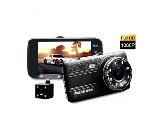 DVR Dash 4 inch Camera Cam Full HD Video Recorder Registrator Auto Dual Cameras for In Cars Dashcam Vehicle Black DVRs Box