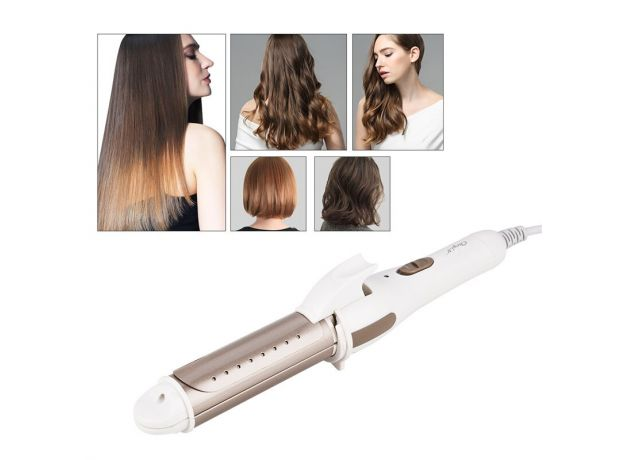 2 In 1 Hair Straightener Curler For Home Travel Plate Roller Fast Heating Hair Straightening Curling Portable Hair Styling Tools