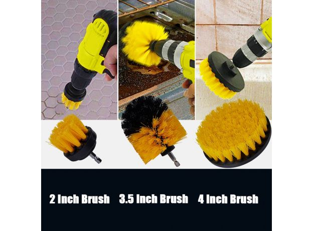 Detailing Brush Set Car Cleaning Brushes Power Scrubber Drill Brush For Car Leather Air Vents Rim Cleaning Dirt Dust Clean Tools