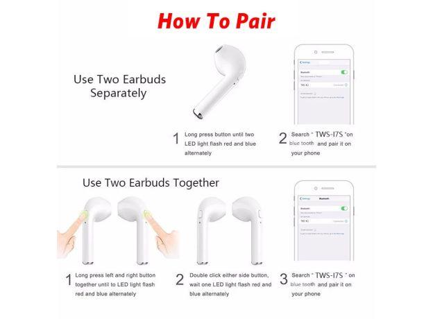 Bluetooth Earphone Stereo Earbud Wireless Bluetooth Earphones In-ear Headsets For All Smart Phone