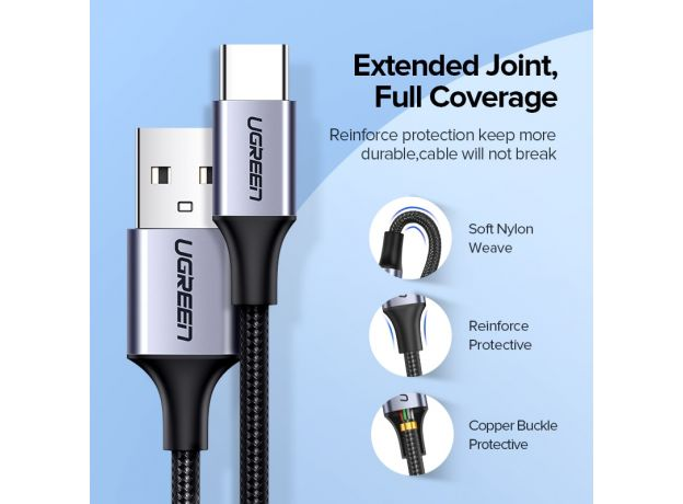 UGREEN USB C Cable for Xiaomi Redmi Note 10 USB Type C 3A Fast Phone Charging Cord for Huawei P40 Pro Type C Charger Cable USB C