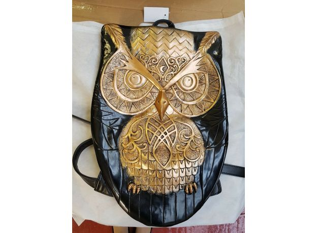 High Quilty Women Backpack Newest Stylish Cool Black PU Leather Owl Backpack