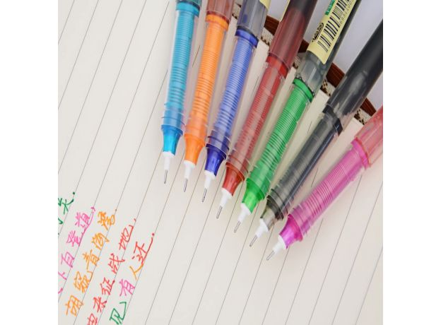 Creative Color Little White Dot RP02 Gel Pens 0.5mm Writing School Student  Fashion Style Office Accessories Stationery Supplies