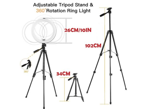 LED Circle Lamp Selfie Fill Ring Light With Tripod Stand Phone Holder Makeup Photography Ring light