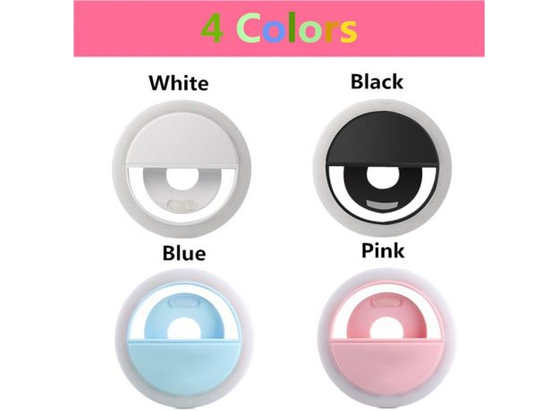 Universal Selfie LED Ring Flash Light Portable Mobile Phone 36 LEDS Selfie Lamp Luminous Ring Clip For iPhone 8 7 6 Plus xiaomi