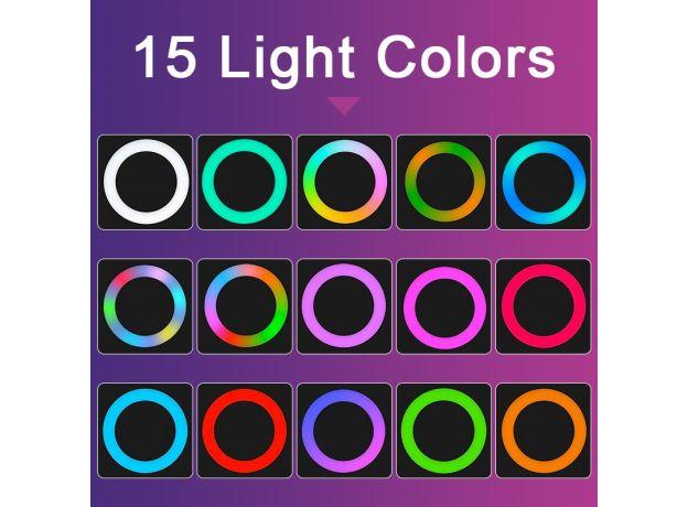 Universal Selfie Lamp Mobile Phone Lens Portable RGB Flash Ring 36 LEDS Luminous Ring Clip Light