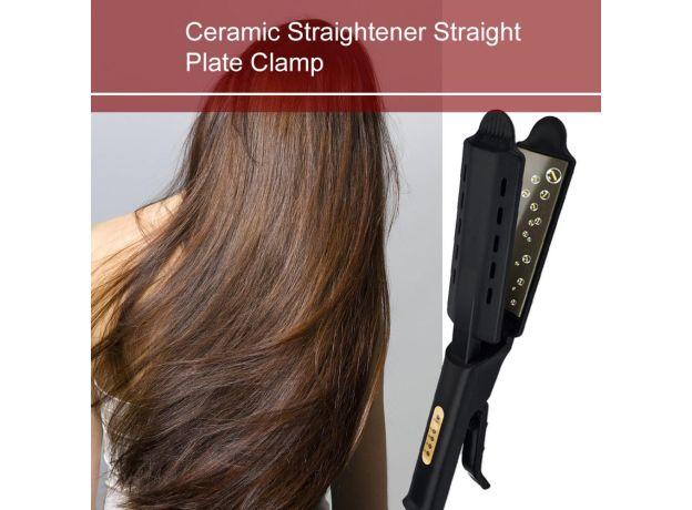 Adjustment Ceramic Tourmaline Ionic Flat Iron Curling Hair Straightener For Women Hair