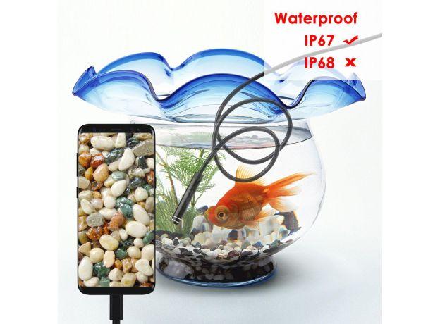 USB Type-C Endoscope Camera Android PC 2m Flexible Snake Inspection Scope Borescope