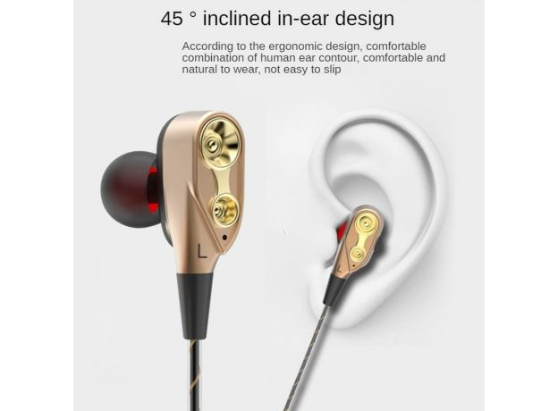 Wired Headphones with Bass Earbuds Stereo Earphone Music Sport Gaming Headset with Mic