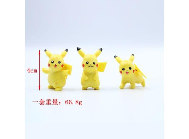 10pcs/sets cartoon movie Pokemon Action figure mini toys dolls 4CM Pikachu Action figure model children