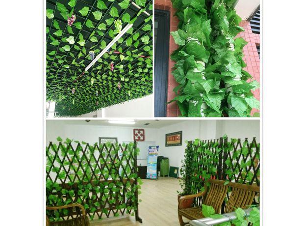 Green silk artificial hanging vines leaf plants vines leaves 1Pcs diy Wall Décor Artificial Plants