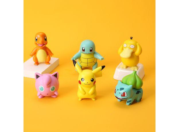 6 Styles Pokemon Pikachu Charmander Psyduck Squirtle Jigglypuff Bulbasaur Bulbasaur Anime Figures Toys Model Kawaii Kids GIft