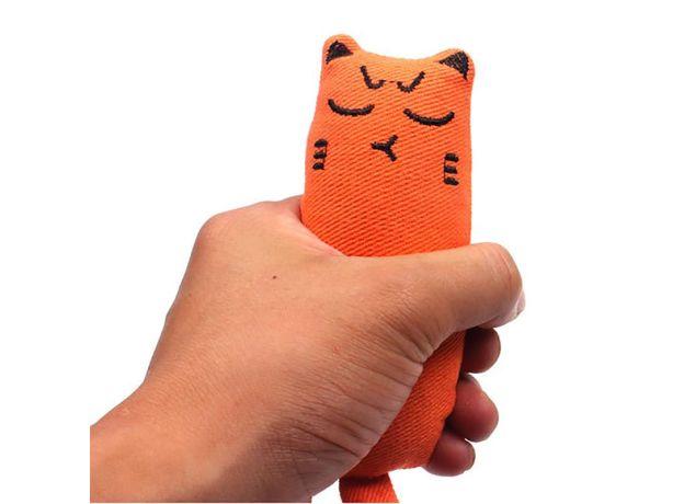 Pet Plush Toys Claws Thumb Bite Cat Mint Scratcher Teeth Grinding Catnip Cat Toy Interactive Tools Pet