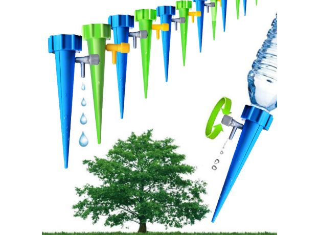 AISN 1pc Automatic Irrigation Watering System Watering Spike for Plants Flower Indoor Household Waterers Bottle Drip Irrigation